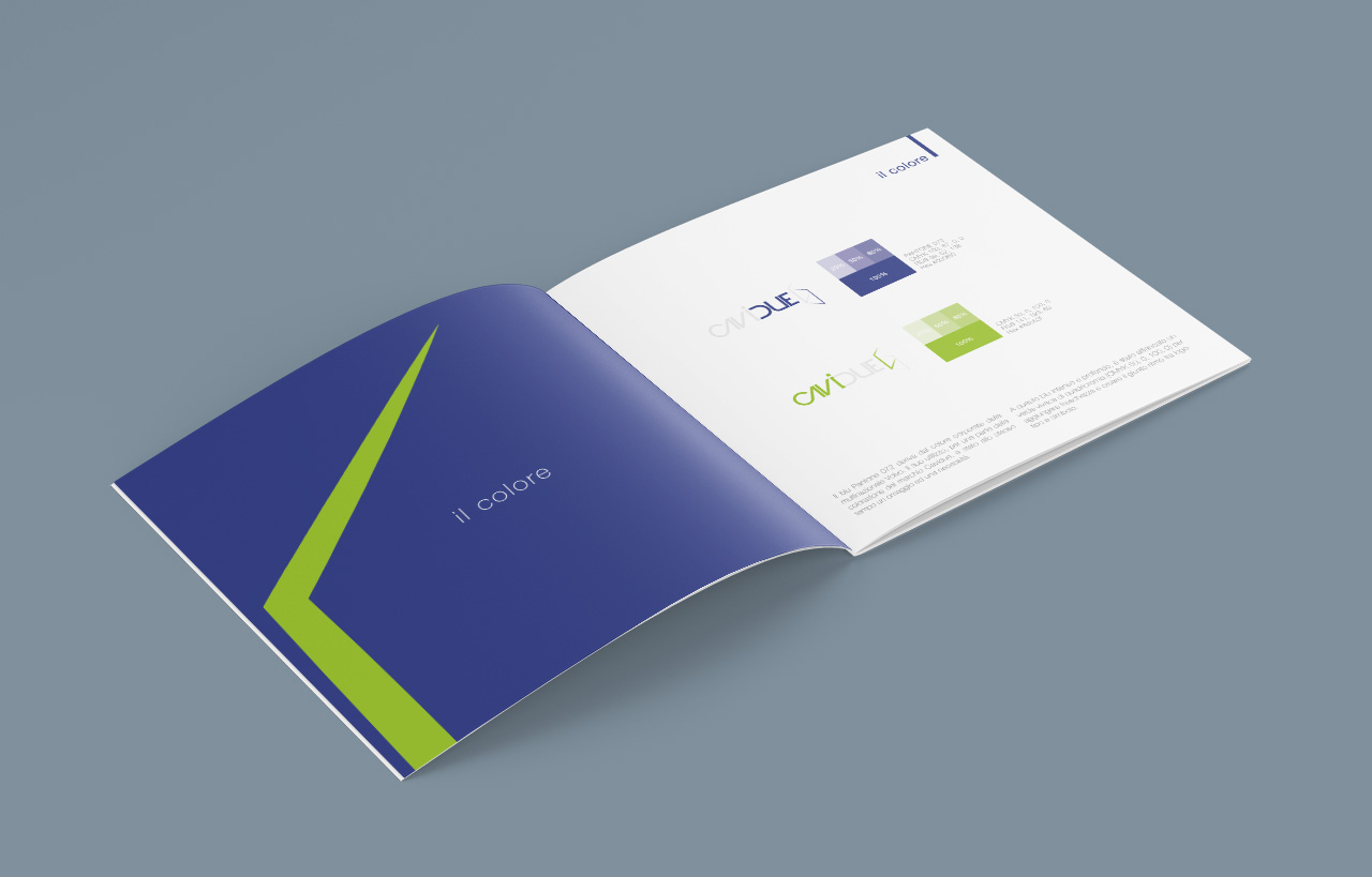 Cavidue brochure storia del marchio – tavola dei colori